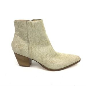 COCONUTS by Maltisse Snakeskin Print Beige Boots